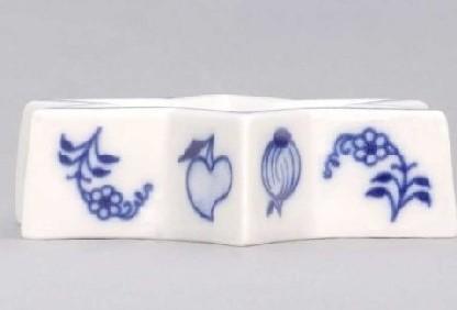Cibulák svietnik plochý, hviezda 9 cm cibulový porcelán, originálny cibulák Dubí 1. akosť