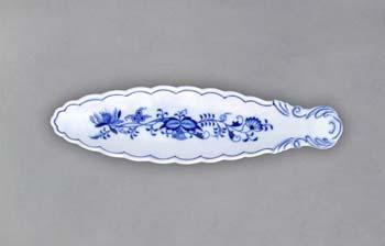 Cibulák miska na olivy / kanoe 21,7 cm cibulový porcelán, originálny cibulák Dubí 1. akosť