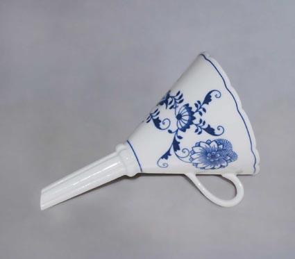 Cibulák lievik 11 cm cibulový porcelán, originálny cibulák Dubí 1. akosť