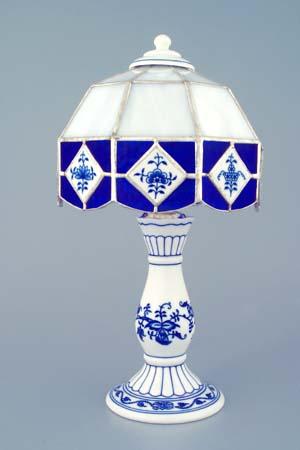 Cibulák nočná lampička / vitráž 30 cm cibulový porcelán, originálny cibulák Dubí 1. akosť