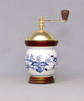 Cibulák mlynček na kávu Banak 20 cm, cibulový porcelán, originálny cibulák Dubí 1. akosť