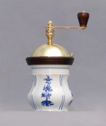 Cibulák mlynček na kávu Aneta 19 cm cibulový porcelán, originálny cibulák Dubí 1. akosť