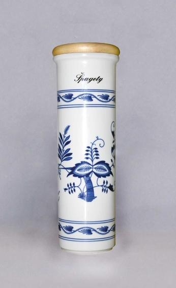 Cibulák dóza na špagety s nápisom Špagety 28,4 cm cibulový porcelán originálny cibulák Dubí 1. akosť