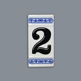Číslo na dom 11 x 5,5 cm cibulový porcelán, originálny cibulák Dubí, 1. akosť