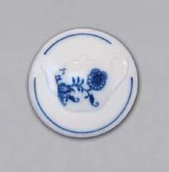 Cibulák magnetka guľatá - kanva čajová 4,5 cm, cibulový porcelán, originálny cibulák Dubí 1. akosť