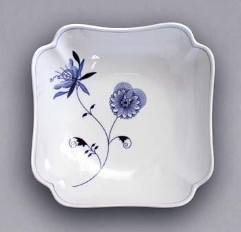 Cibulák misa šalátová štvorhranná vysoká - ECO cibulák 24 cm cibulový porcelán, originálny cibulák Dubí 1. akosť