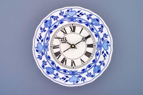 MIMORIADNA AKCIA 53% Cibulák hodiny so strojčekom 24 cm cibuľový porcelán,originálny cibuľák Dubí,2. akosť