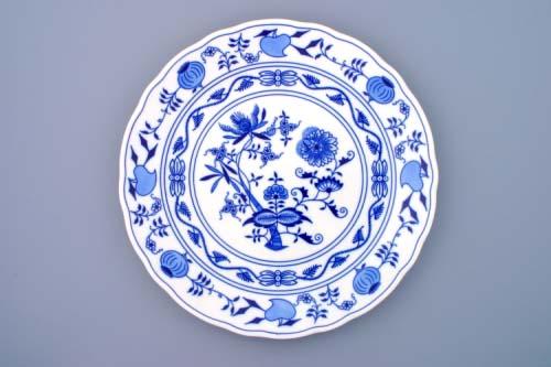 Cibulak tanier klubový 30 cm cibuľový porcelán, originálny cibuľák Dubí 2. akosť