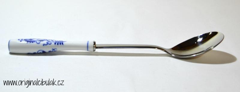 Cibulák lyžica na šalát / balenie 1 ks kartón 27cm -originálny cibulák, porcelánová časť-Český porcelán a.s.Dubí, kovová časť - Toner a.s. 1.jakost