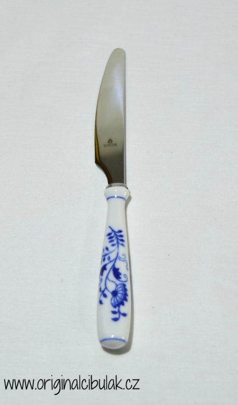 Cibulák nôž jedálenský / balenie 1 ks kartón 20cm - originálny cibulák, porcelánová časť- Český porcelán a.s Dubí, kovová časť - Toner as 1.jakost