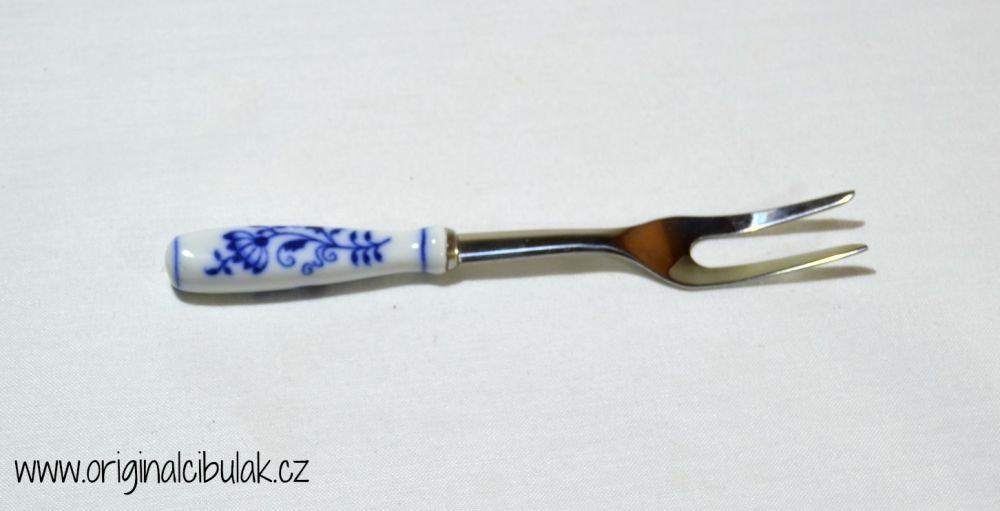Cibulák vidlička na nárez / balenie 1 ks kartón 15cm - originálny cibulák, porcelánová časť-Český porcelán a.s. Dubí, kovová časť - Toner a.s. 1.jakost