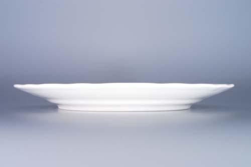 Tanier porcelánový biely, plytký 26cm Český porcelán Dubí a.s.