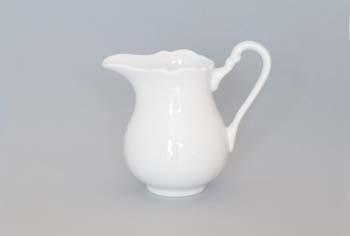 Kanvička na mlieko porcelánová biela vysoká 0,16l Český porcelán Dubí 1.akosť