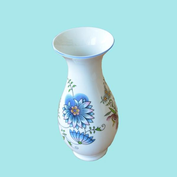 Cibulák váza 1210 / 3- NATURE farebný cibulák 25,5 cm cibulový porcelán, originálny cibulák Dubí 1. akosť