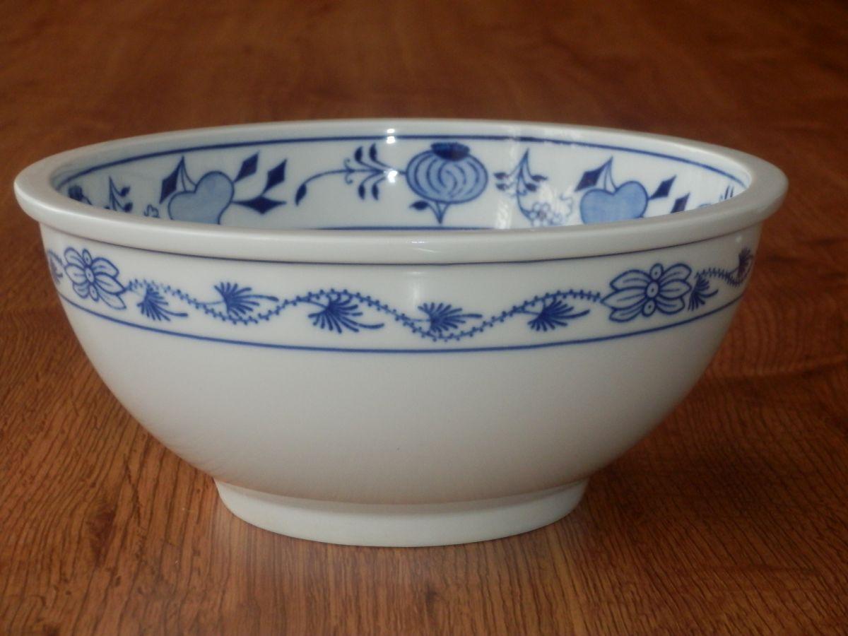Cibulak misa guľatá Bep 1, 7,5 cm cibulový porcelán, originálny cibulák Dubí 1. akosť