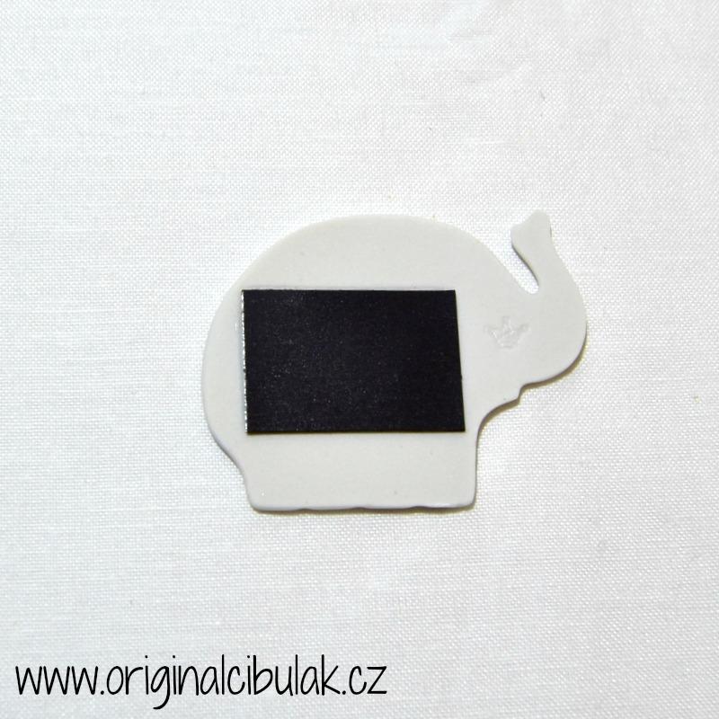 Cibulak sloník - magnetka 5,5cm cibulový porcelán, originálny cibulák Dubí 1. akosť