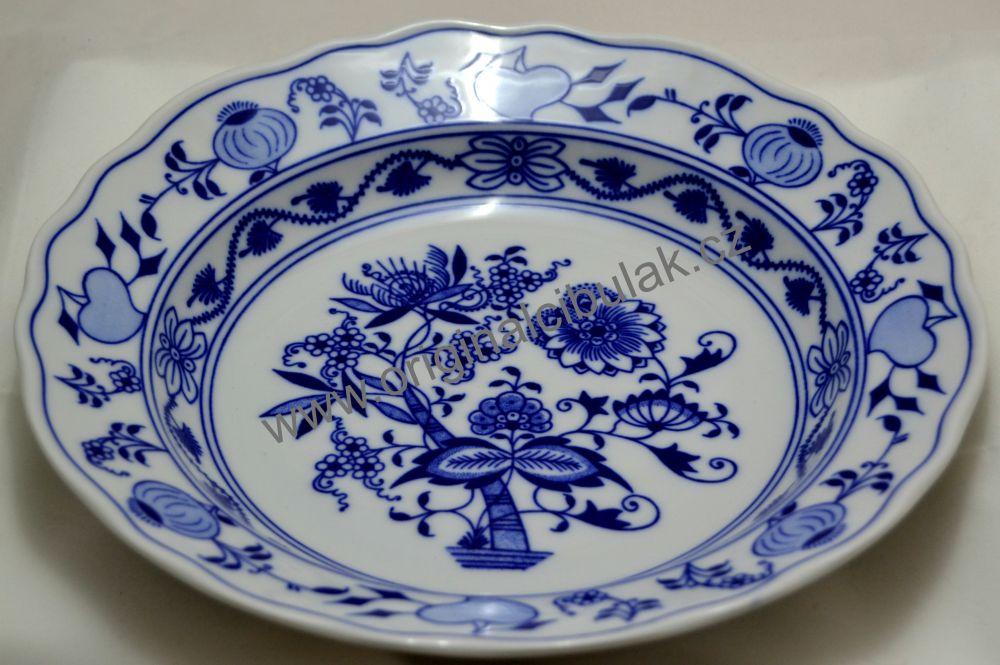 AKCIA - 20% - Cibulák tanier hlboký 24cm cibulový porcelán, originálny cibulák ,porcelán Dubí,2. akosť