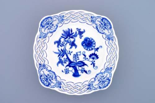 Mimoriadna akcia -50% Cibulák misa štvorhranná prelamovaná 21 cm cibulový porcelán, originálny cibulák Dubí 2. akosť