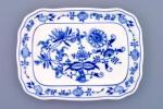 Cibulák maselnička hranatá veľká / spodok 19 x 15 cm cibulový porcelán, originálny cibulák Dubí 1. akosť