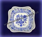Cibulák misa šalátová štvorhranná vysoká 21 cm cibulový porcelán, originálny cibulák Dubí 1. akosť