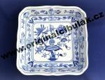 Cibulák misa šalátová štvorhranná 24 cm cibulový porcelán, originálny cibulák Dubí 1. akosť